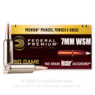 7mm Win Short Magnum - 160 Grain AccuBond - Federal - 20 Rounds