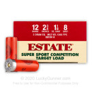 "12 Gauge - 2-3/4"" 1-1/8oz. #8 Shot - Estate Cartridge - 250 Rounds"