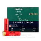 """28 ga - 2 3/4"""" - 3/4oz. #8 Shot - Fiocchi VIP Target  - 25"""