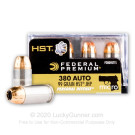 .380 Auto - 99 Grain JHP - Federal Premium Personal Defense HST - 200 Rounds
