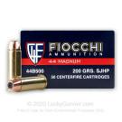 44 Mag - 200 Grain SJHP - Fiocchi - 500 Rounds