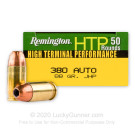 380 Auto - 88 Grain JHP - Remington HTP - 50 Rounds