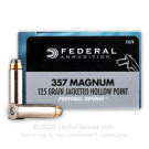357 Magnum - 125 Grain JHP - Federal - 20 Rounds