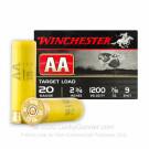 "20 Gauge - 2-3/4"" AA Target #9 Shot - Winchester - 250 Rounds"