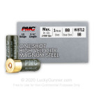 "12 Gauge - 2-3/4"" 1-1/8oz. BB Steel Shot - PMC High Velocity Magnum - 250 Rounds"