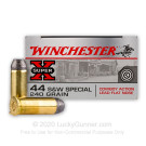 44 S&W Special - 240 Grain Cowboy Lead Flat Nose - Winchester Super-X - 50 Rounds