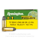 32 S&W Long - 98 Grain LRN - Remington Performance WheelGun - 50 Rounds