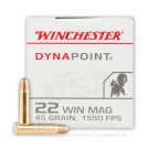 22 WMR - 45 gr CPHP - Winchester Dynapoint - 50 Rounds