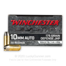 10mm Auto - 175 Grain JHP - Winchester Silvertip - 200 Rounds