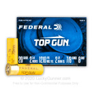 "20 ga - 2-3/4"" Lead Shot Target Load - 7/8 oz. -  #8 - Federal Top Gun - 250 Rounds"