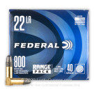 22 LR - 40 Grain LRN - Federal Champion - 800 Rounds