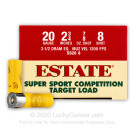 "20 Gauge - 2-3/4"" 7/8oz. #8 Shot - Estate Cartridge - 25 Rounds"