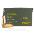 9mm - 124 Grain FMJ - Prvi Partizan - 1000 Rounds in Ammo Can