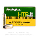 44 Mag - 240 Grain SJHP - Remington HTP - 500 Rounds