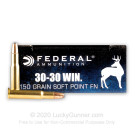 30-30 - 150 Grain SP Flat Nose - Federal Power-Shok - 20 Rounds
