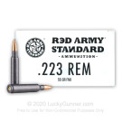 223 Rem - 55 Grain FMJ - Red Army Standard - 1000 Rounds