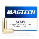 38 Special - 158 Grain FMJ FN  - Magtech - 50 Rounds