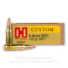 6.8 Remington SPC  - 120 gr SST - Hornady Custom - 20 Rounds