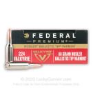 224 Valkyrie -  60 Grain Nosler Ballistic Tip – Federal Premium - 20 Rounds
