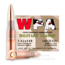 7.62x54r - 148 Grain FMJ - Wolf Military Classic - 500 Rounds