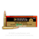 30-06 - 168 gr HP-BT - Federal Premium Sierra Match King Gold Medal - 20 Rounds