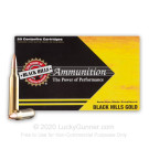 7mm Rem Mag - 140 Grain Barnes TSX HP - Black Hills Gold - 20 Rounds