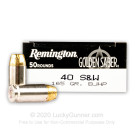 40 S&W - 165 Grain BJHP - Remington Golden Saber - 500 Rounds