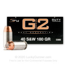 40 S&W - 180 Grain Bonded HP - Speer LE Gold Dot G2 - 50 Rounds