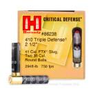 "410 Bore - 2-1/2"" FTX Slug - Hornady Critical Defense - 20 Rounds"
