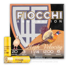 "20 ga - 3"" - 1 1/4 oz #6 - High Velocity - Fiocchi - 25 Rounds"