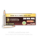 300 Winchester Magnum - 180 Grain Trophy Copper Polymer Tip - Federal Premium Vital-Shok - 20 Rounds