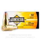 22 TCM - 40 Grain JHP - Armscor USA - 50 Rounds