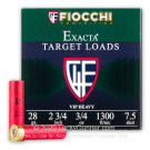 "28 Gauge - 2-3/4"" 3/4oz. #7.5 Shot - Fiocchi - 25 Rounds"