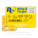 "20 Gauge - 2-3/4"" 7/8oz. #7.5 Shot - Rio Wing & Target - 25 Rounds"