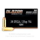38 Special - 125 gr FMJ - Blazer Brass - 50 Rounds