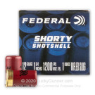 "12 Gauge - 1-3/4"" 1oz. Rifled Slug - Federal Shorty Shotshell - 10 Rounds"