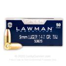 9mm - 147 Grain TMJ - Speer LAWMAN - 1000 Rounds