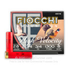 "28 Gauge - 2-3/4"" 3/4oz. #8 Shot - Fiocchi - 25 Rounds"