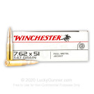 308 - 147 gr FMJ - Winchester 7.62x51 - 20 Rounds