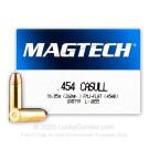 454 Casull - 260 Grain FMC-FN - MagTech - 20 Rounds
