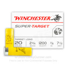 """20 ga - 2-3/4"""" Lead Shot Target Load - 7/8 oz. -  #7.5 - Winchester Super Target - 250 Rounds"""