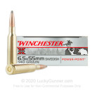 6.5x55mm Swedish Mauser - 140 Grain PP - Winchester Super-X - 20 Rounds