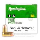 380 Auto - 88 gr JHP - Remington UMC- 100 Rounds