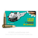 7.62x39 - 196 Grain FMJ - Brown Bear Subsonic - 20 Rounds