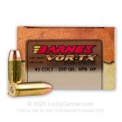 45 Long Colt - 200 Grain XPB HP - Barnes VOR-TX - 20 Rounds