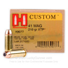 41 Remington Mag - 210 Grain XTP JHP - Hornady Custom - 20 Rounds