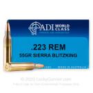 223 Rem - 55 Grain BlitzKing - ADI World Class - 20 Rounds