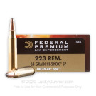 223 Rem - 64 Grain Hi-Shok SP - Federal LE Tactical TRU - 20 Rounds
