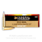 223 Rem - 55 Grain Nosler Ballistic Tip - Federal LE Tactical TRU - 20 Rounds