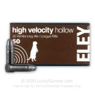 22 LR - 38 Grain HP - Eley High Velocity - 50 Rounds